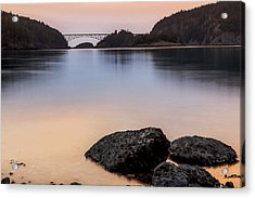 Deception Pass Sunset Acrylic Print