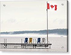 Deck Chairs Canadian Flag Acrylic Print