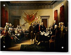 Declaration Of Independence Acrylic Print by MotionAge Designs