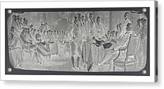 Declaration Of Independence In Negative Acrylic Print by Rob Hans