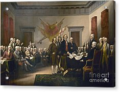Declaration Of Independence Acrylic Print by Pg Reproductions