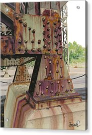 Acrylic Print featuring the painting Declining Infrastructure by Ferrel Cordle