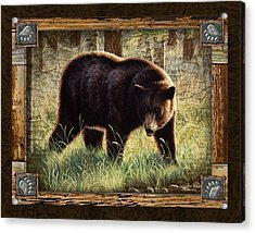 Deco Black Bear Acrylic Print by JQ Licensing