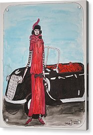 Deco Mama W/convertible Acrylic Print by Mary Kay De Jesus