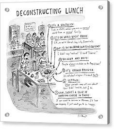 Deconstructing Lunch Acrylic Print