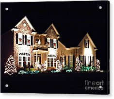 Decorated For Christmas Acrylic Print by Sarah Loft