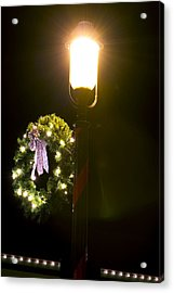 Decorating For Christmas Acrylic Print by Kenneth Albin
