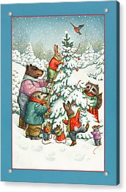 Decorating The Tree Acrylic Print by Lynn Bywaters