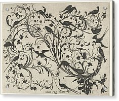 Decoration With Flowers And Birds, Anonymous Acrylic Print