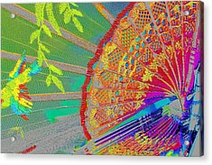 Acrylic Print featuring the photograph Decorative Fan by David Rich