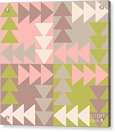 Decorative Vector Poster Geometric Acrylic Print