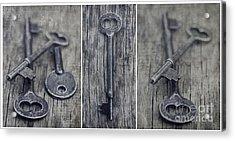 decorative vintage keys II Acrylic Print by Priska Wettstein