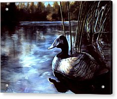 Acrylic Print featuring the painting Decoy At Tealwood by Pattie Wall