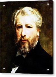 Dedication To William Adolphe Bouguereau Acrylic Print by Georgiana Romanovna