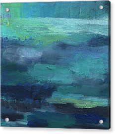 Tranquility- Abstract Painting Acrylic Print by Linda Woods
