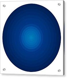Deep Blue Circles Acrylic Print by Frank Tschakert