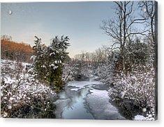 Deep Creek At Green Lane Reservoir - Pennsylvania Usa Acrylic Print by Mother Nature