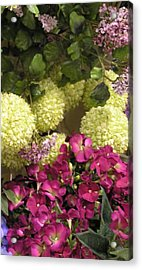 Deep Floral Falls Acrylic Print