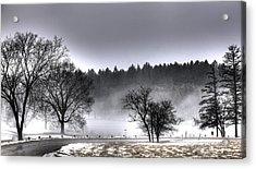 Deep Fog Over Marmo Acrylic Print