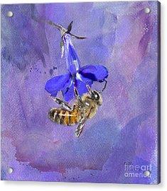 Deep In Purple Acrylic Print by Betty LaRue