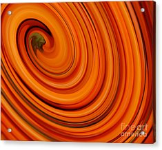 Deep Orange Abstract Acrylic Print by Andrea Auletta