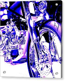 Deep Purple Art On Two Wheels Acrylic Print by Don Struke