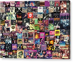 Deep Purple Collage Acrylic Print by Taylan Apukovska