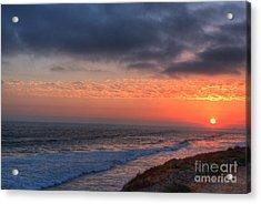 Deep Red Sunset Acrylic Print by Deborah Smolinske
