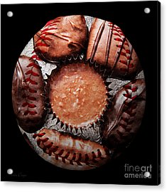 Deep Rich Chocolates Baseball Square Acrylic Print by Andee Design
