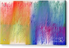 Deep Rich Sherbet Abstract Acrylic Print by Andee Design