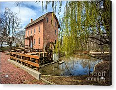 Deep River County Park Grist Mill Acrylic Print by Paul Velgos