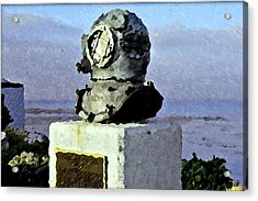 Deep Sea Divers Memorial Acrylic Print by Christopher Bage