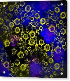 Acrylic Print featuring the digital art Deep Sea by Martina  Rathgens