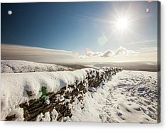 Deep Snow On The Fairfield Horseshoe Acrylic Print by Ashley Cooper