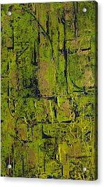 Deep South Summer Coming On - Panel II - The Green Acrylic Print by Sandra Gail Teichmann-Hillesheim