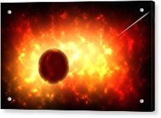 Deep Space Burst Digital Painting Acrylic Print