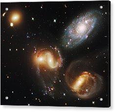 Deep Space Galaxies Acrylic Print