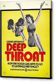 Deep Throat Movie Poster 1972 Acrylic Print