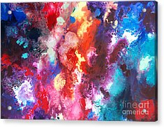 Deep Water Coral Acrylic Print by Sally Trace