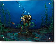 Deepsea Love Acrylic Print by Andres  Soto