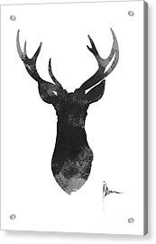 Deer Antlers Watercolor Painting Art Print Acrylic Print by Joanna Szmerdt