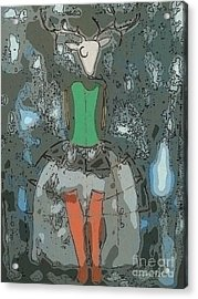 Deer Girl Acrylic Print by Amy Sorrell