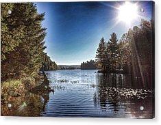 Deer Lake Narrows Acrylic Print by Lee Burgess