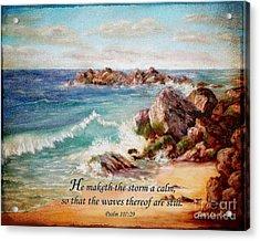 Deerfield Wave Psalm 107 Acrylic Print