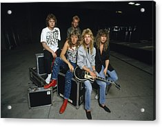 Def Leppard - Equipment & Gear 1987 Acrylic Print by Epic Rights