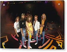 Def Leppard - Round Stage 1987 Acrylic Print by Epic Rights