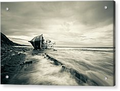 Defeated By The Sea Acrylic Print