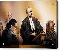 Defence Lawyer Edward Sapiano At Jennifer Pan Trial Acrylic Print