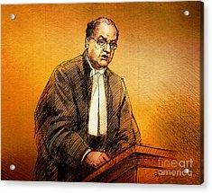 Defence Lawyer Robert Richardson At Richard Kachkar Trial Acrylic Print