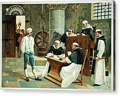 Defendant Before The Spanish Inquisition Acrylic Print